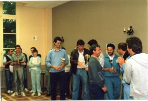 1987 - Tournoi européen de Tennis - Christian Barrière - Claude Barry - Alain et Muriel Lagarde   (1)